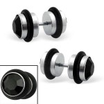 Dumbbell - 316L Surgical Grade Stainless Steel Ear Tunnels & Plugs SD3565