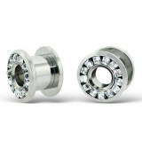 Dumbbell - 316L Surgical Grade Stainless Steel Ear Tunnels & Plugs SD12842