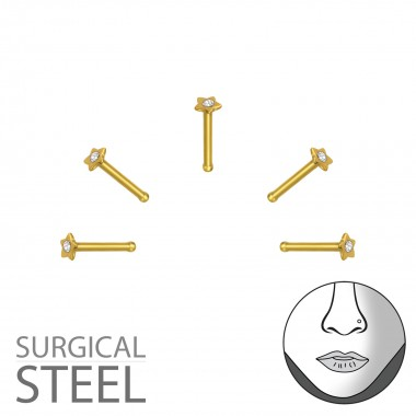 Pack Of 5 Gold Surgical Ste...