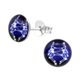 Cancer Zodiac Sign - 925 Sterling Silver Kids Ear Studs SD31948