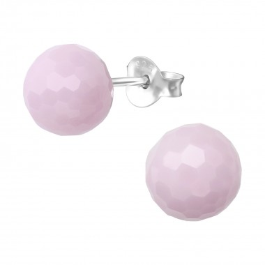 8mm Round - Plastic Kids Ear Studs SD36346