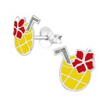Pineapple Juice - 925 Sterling Silver Kids Ear Studs SD38473