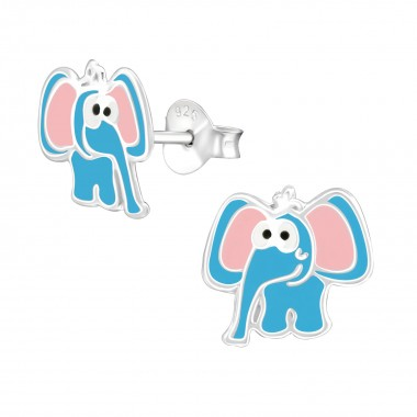 Elephant - 925 Sterling Silver Kids Ear Studs SD38577