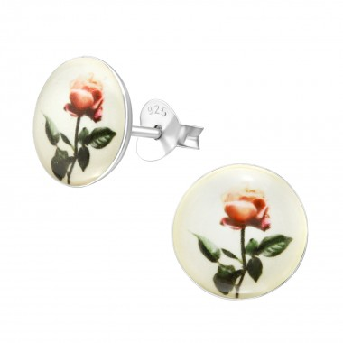 Rose - 925 Sterling Silver Kids Ear Studs SD38624