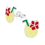 Pineapple Juice - 925 Sterling Silver Kids Ear Studs SD38626