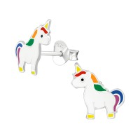 Unicorn - 925 Sterling Silver Kids Ear Studs SD38665