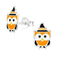 Owl - 925 Sterling Silver Kids Ear Studs SD38672