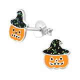 Pumpkin - 925 Sterling Silver Kids Ear Studs SD38692