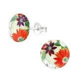Flower - 925 Sterling Silver Kids Ear Studs SD38751