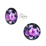 Rose - 925 Sterling Silver Kids Ear Studs SD38753