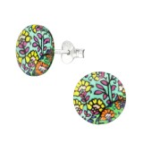 Abstract - 925 Sterling Silver Kids Ear Studs SD38754