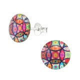 Abstract - 925 Sterling Silver Kids Ear Studs SD38755