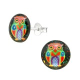 Owl - 925 Sterling Silver Kids Ear Studs SD38758