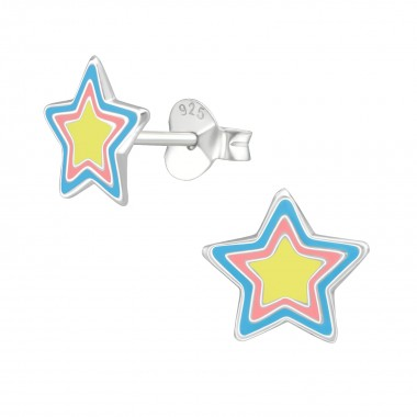 Star - 925 Sterling Silver Kids Ear Studs SD39292