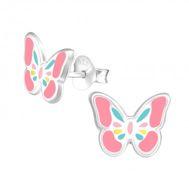 Butterfly - 925 Sterling Silver Kids Ear Studs SD39297