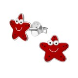 Starfish - 925 Sterling Silver Kids Ear Studs SD39418
