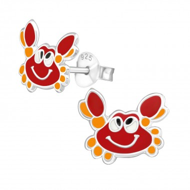 Crab - 925 Sterling Silver Kids Ear Studs SD39858