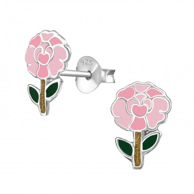 Carnation - 925 Sterling Silver Kids Ear Studs SD39859