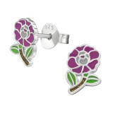 Flower - 925 Sterling Silver Kids Ear Studs SD39876