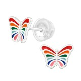Butterfly - 925 Sterling Silver Kids Ear Studs SD39966