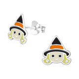 Witch - 925 Sterling Silver Kids Ear Studs SD40360