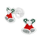 Bell Ornaments - 925 Sterling Silver Kids Ear Studs SD40381