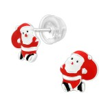 Santa Claus - 925 Sterling Silver Kids Ear Studs SD40383