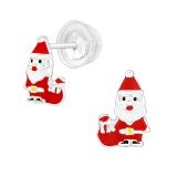 Santa Claus - 925 Sterling Silver Kids Ear Studs SD40386