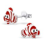 Fish - 925 Sterling Silver Kids Ear Studs SD964