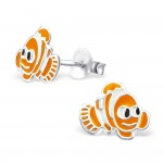 Fish - 925 Sterling Silver Kids Ear Studs SD965