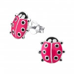 Lady Bug - 925 Sterling Silver Kids Ear Studs SD970