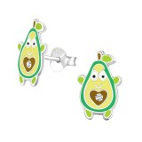 Avocado - Shell Kids Ear Studs with Crystal SD37000