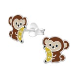 Monket - 925 Sterling Silver Kids Ear Studs with Crystal SD40325