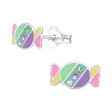 Candy - 925 Sterling Silver Kids Ear Studs with Crystal SD40517