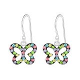Butterfly - 925 Sterling Silver Kids Earrings SD14737