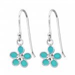 Flower - 925 Sterling Silver Kids Earrings SD15133