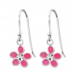 Flower - 925 Sterling Silver Kids Earrings SD15135