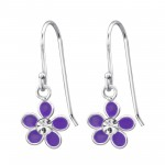 Flower - 925 Sterling Silver Kids Earrings SD15136