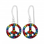 Peace - 925 Sterling Silver Kids Earrings SD15272