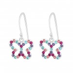 Butterfly - 925 Sterling Silver Kids Earrings SD15586