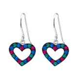 Heart - 925 Sterling Silver Kids Earrings SD18314