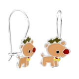 Reindeer - 925 Sterling Silver Kids Earrings SD28659