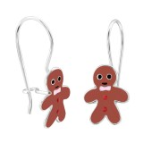 Gingerbread - 925 Sterling Silver Kids Earrings SD28666