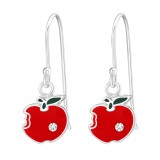 Apple - 925 Sterling Silver Kids Earrings SD38631