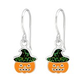 Pumpkin - 925 Sterling Silver Kids Earrings SD38691