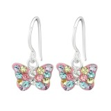 Butterfly - 925 Sterling Silver Kids Earrings SD40263