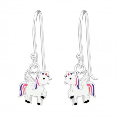 Unicorn - 925 Sterling Silver Kids Earrings SD41033