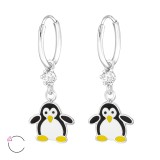 Penguin - 925 Sterling Silver Kids Hoops SD32908
