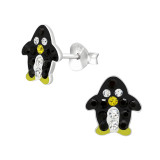 Penguin - 925 Sterling Silver Kids Ear Studs with Crystal SD42542