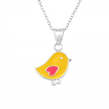 Chicken - 925 Sterling Silver Kids Necklaces SD20341